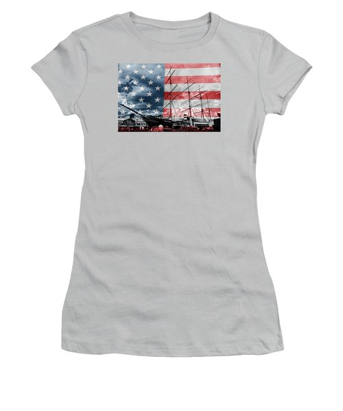 Red White And Blue Women's T-Shirt (Athletic Fit)