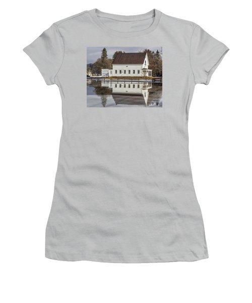 Reflected Town House Women's T-Shirt (Junior Cut) by Tim Kirchoff