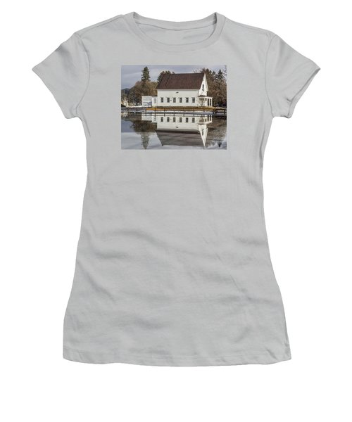 Reflected Town House Women's T-Shirt (Athletic Fit)