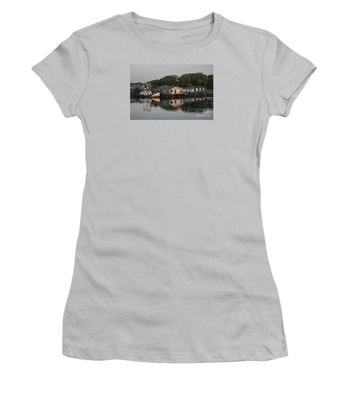 Reflection Noitcelfer Women's T-Shirt (Junior Cut) by Roberta Byram