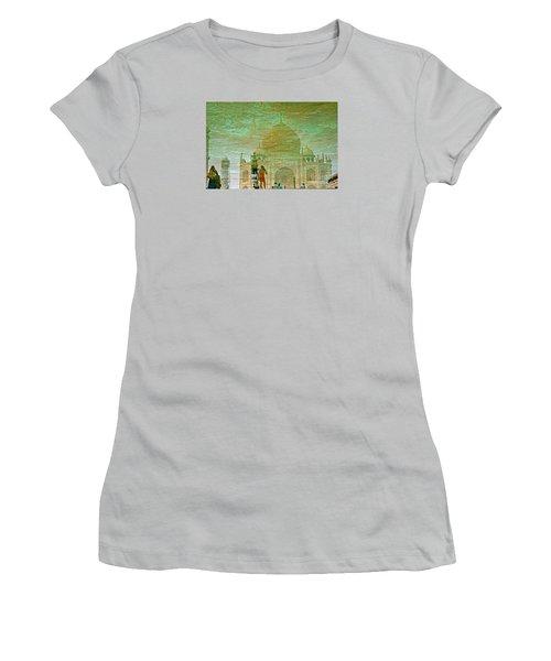 Reflections At The Taj Women's T-Shirt (Junior Cut) by Michael Cinnamond