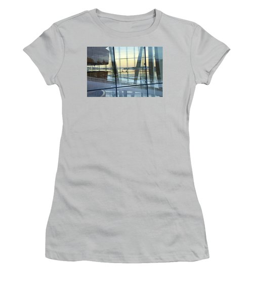 Women's T-Shirt (Athletic Fit) featuring the photograph Reflections Of Oslo by David Chandler