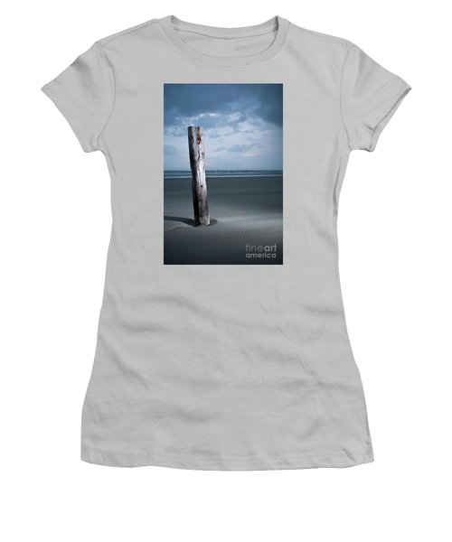 Women's T-Shirt (Junior Cut) featuring the photograph Remnant Of The Past On Outer Banks by Dan Carmichael