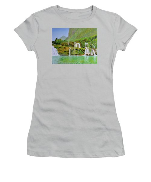 Returned To Paradise Women's T-Shirt (Athletic Fit)