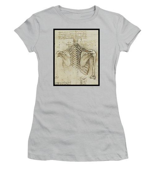 Women's T-Shirt (Junior Cut) featuring the painting Ribcage Main by James Christopher Hill