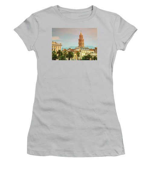 Riva Waterfront, Houses And Cathedral Of Saint Domnius, Dujam, D Women's T-Shirt (Junior Cut) by Elenarts - Elena Duvernay photo