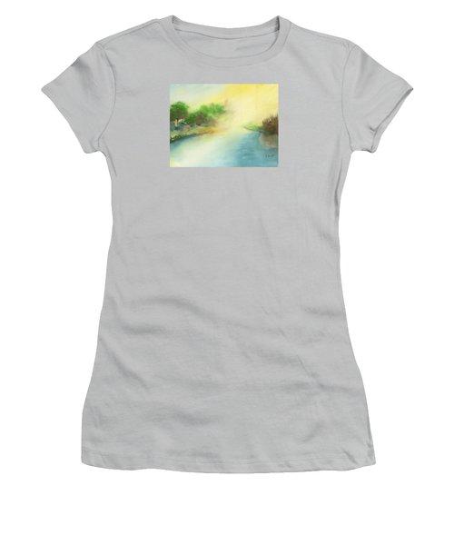 River Morning Women's T-Shirt (Junior Cut) by Frank Bright