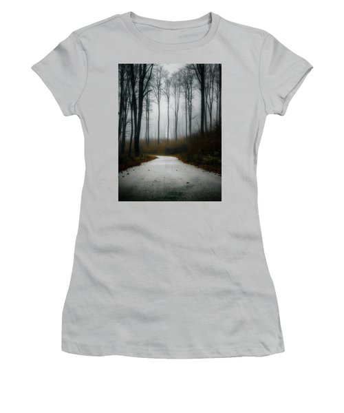 Road In The Fog 07/11/17 Women's T-Shirt (Athletic Fit)