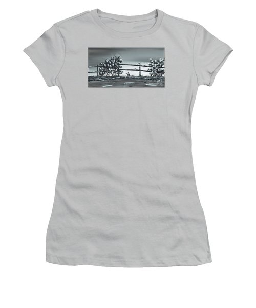 Women's T-Shirt (Junior Cut) featuring the painting Road Runner. by Kenneth Clarke