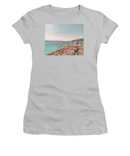 Rock Pool At Currarong Women's T-Shirt (Athletic Fit)