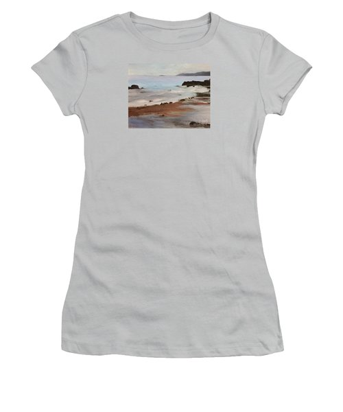 Rocky Neck Beach Women's T-Shirt (Athletic Fit)