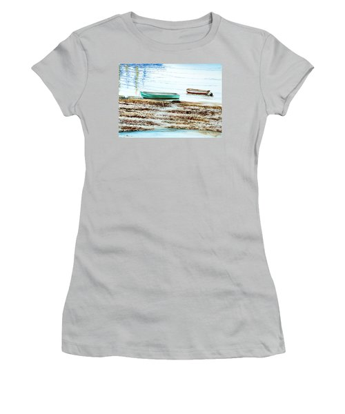 Rocky Neck Runabout Skiff Women's T-Shirt (Athletic Fit)