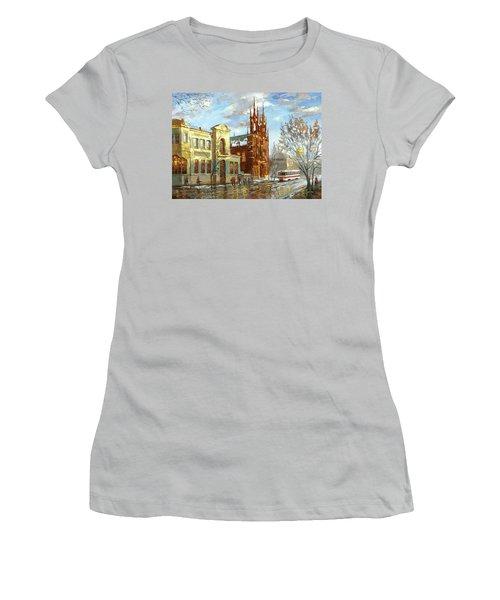 Roman Catholic Church Women's T-Shirt (Junior Cut) by Dmitry Spiros