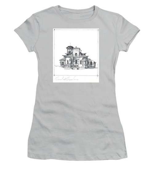 Roman Church At Chamalieres Women's T-Shirt (Athletic Fit)