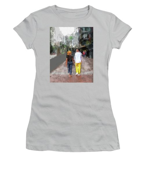 Romantic Couple Women's T-Shirt (Athletic Fit)