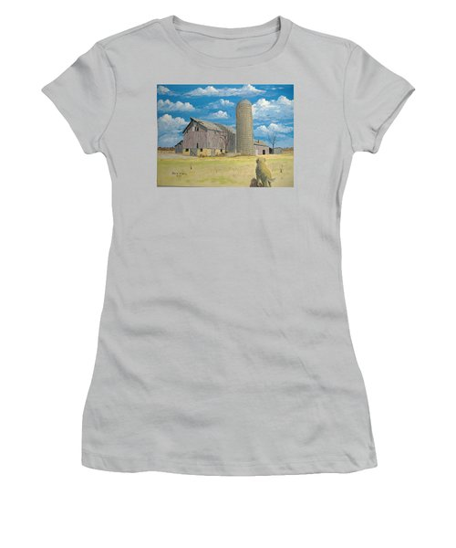 Women's T-Shirt (Junior Cut) featuring the painting Rorabeck Barn by Norm Starks
