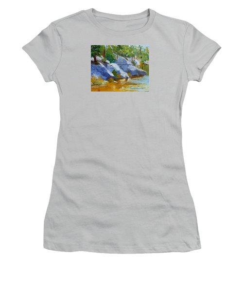 Rose Canyon Lake Women's T-Shirt (Junior Cut) by Susan Woodward