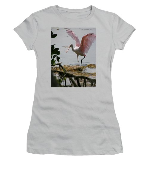 Roseate Wave Women's T-Shirt (Athletic Fit)