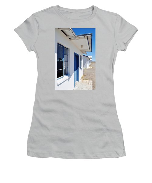 Roy's Motel And Cafe Auto Court Women's T-Shirt (Junior Cut) by Kyle Hanson