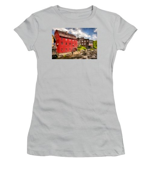 Rustic Historic Grist Mill Littleton, Nh Women's T-Shirt (Athletic Fit)