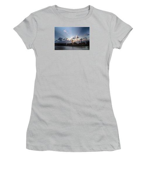 Safe Shore 02 Women's T-Shirt (Junior Cut) by Arik Baltinester