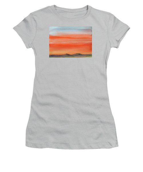 Saffron On The Mountains Women's T-Shirt (Athletic Fit)