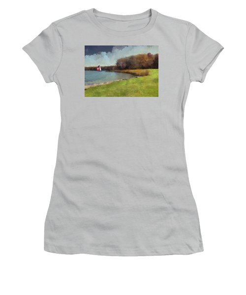 Sails On Lake Wampum Women's T-Shirt (Athletic Fit)
