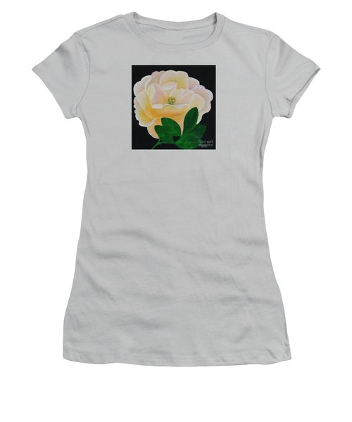 Salmon Pink Rose Women's T-Shirt (Athletic Fit)