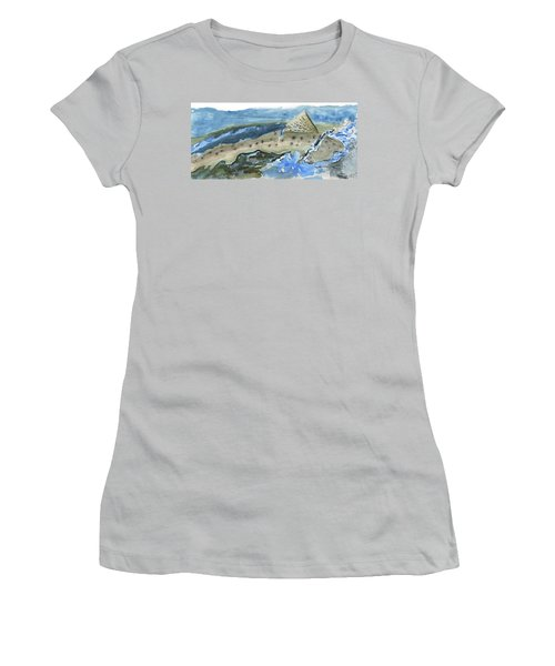 Salmon Surface Women's T-Shirt (Athletic Fit)
