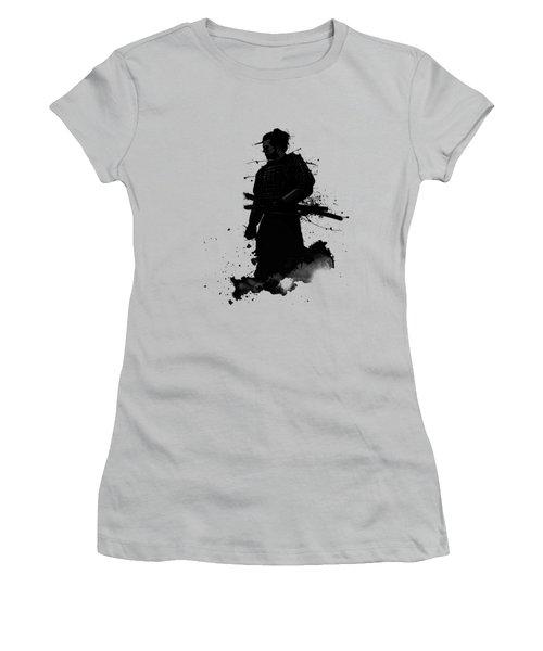 Women's T-Shirt (Junior Cut) featuring the painting Samurai by Nicklas Gustafsson