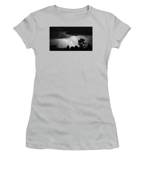 Women's T-Shirt (Junior Cut) featuring the photograph San Juan Strike by Kevin Munro