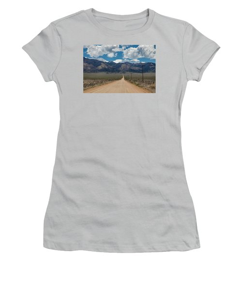 San Luis Valley Back Road Cruising Women's T-Shirt (Junior Cut) by James BO Insogna