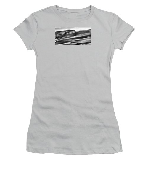 Women's T-Shirt (Junior Cut) featuring the photograph Sand Dunes And Shadows by Monte Stevens