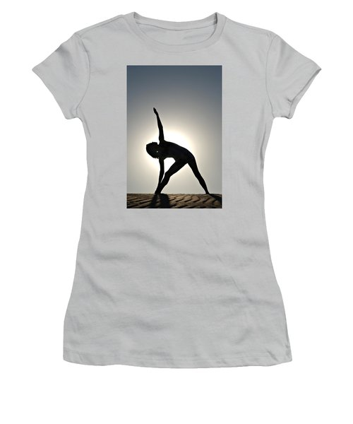 Sand Yoga Women's T-Shirt (Athletic Fit)