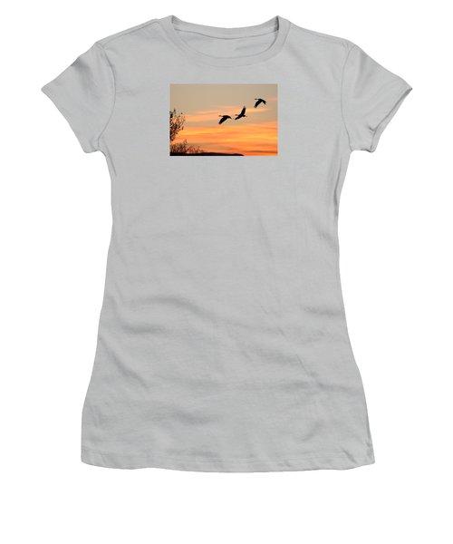 Sandhill Sunrise Three Women's T-Shirt (Athletic Fit)