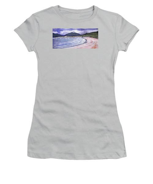 Women's T-Shirt (Junior Cut) featuring the painting Sands, Harris by Richard James Digance