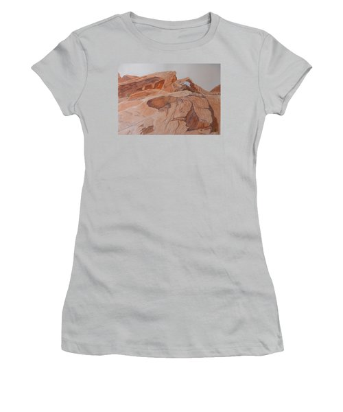 Sandstone Rainbow Women's T-Shirt (Athletic Fit)
