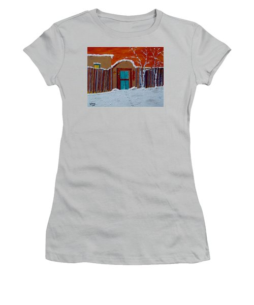 Santa Fe Snowstorm Women's T-Shirt (Athletic Fit)