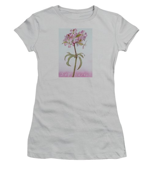 Saponaria Women's T-Shirt (Junior Cut) by Ruth Kamenev