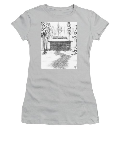 School In The Snow Women's T-Shirt (Athletic Fit)