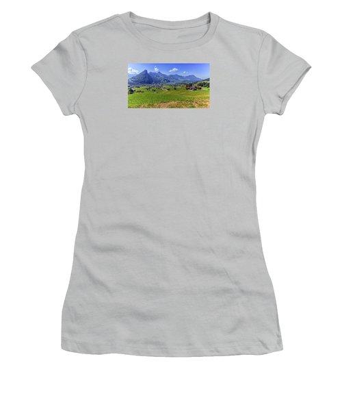 Schwyz And Zurich Canton View, Switzerland Women's T-Shirt (Athletic Fit)