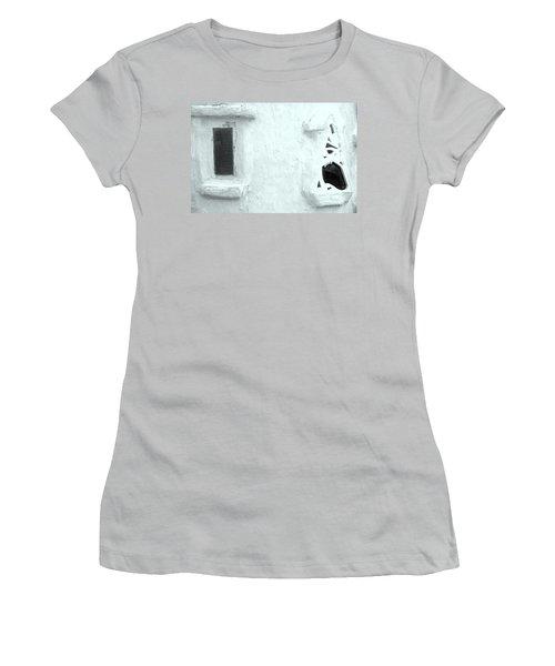 Scream Wall Women's T-Shirt (Junior Cut) by Jez C Self