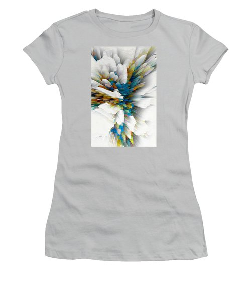 Women's T-Shirt (Athletic Fit) featuring the digital art Sculptural Series Digital Painting 08.072311wscvssex490l by Kris Haas