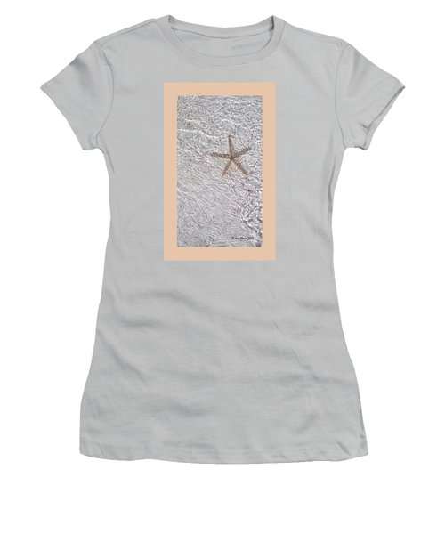 Women's T-Shirt (Junior Cut) featuring the photograph Sea Star 11 Anna Maria Island by Jean Marie Maggi