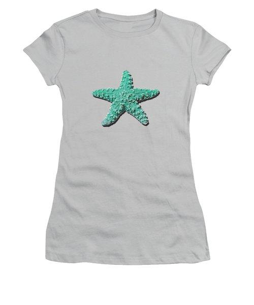 Sea Star Aqua .png Women's T-Shirt (Junior Cut) by Al Powell Photography USA