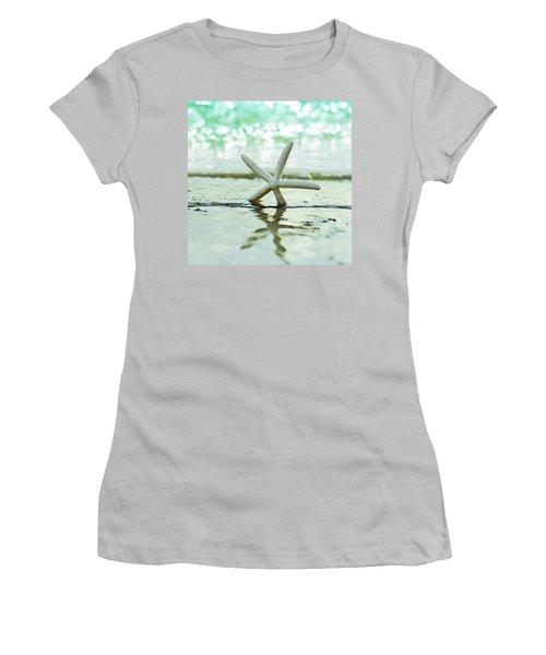 Sea Star Women's T-Shirt (Junior Cut) by Laura Fasulo