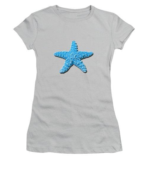 Sea Star Light Blue .png Women's T-Shirt (Junior Cut) by Al Powell Photography USA