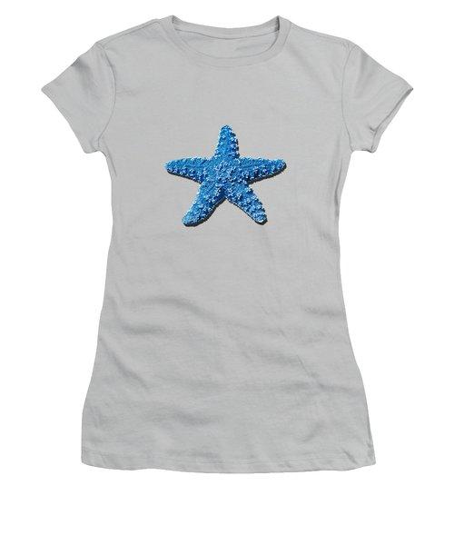 Sea Star Medium Blue .png Women's T-Shirt (Junior Cut) by Al Powell Photography USA