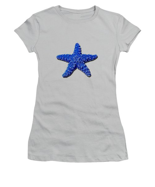 Sea Star Navy Blue .png Women's T-Shirt (Athletic Fit)