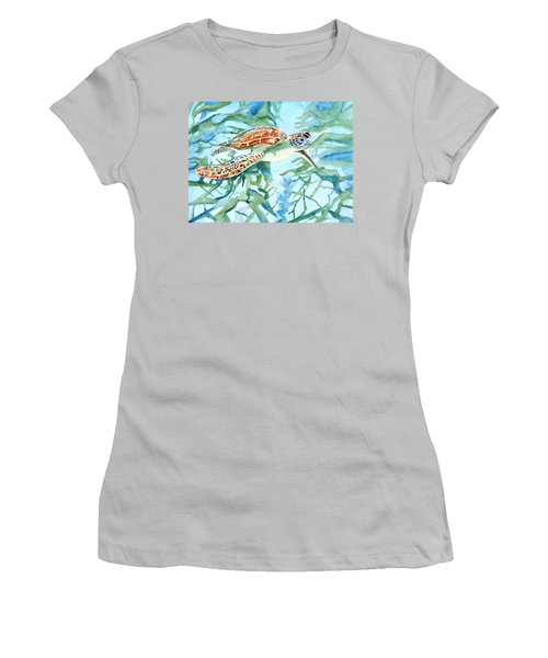 Sea Turtle Series #1 Women's T-Shirt (Athletic Fit)